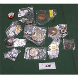 12 PCS VINTAGE MEDALS, TOKENS ETC
