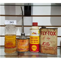 SHELL OIL PRODUCTS ALL VINTAGE