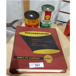 3 SHELL OIL TINS & LUBRICATION SERVICE MANUAL