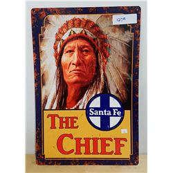 THE CHIEF METAL SIGN