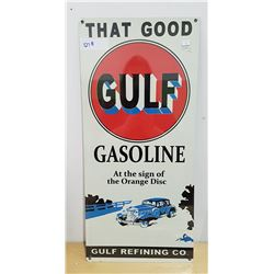 GULF GASOLINE METAL SIGN