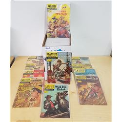 APPROX 104 VINTAGE 15CEMT CLASSIC ILLUSTRATED COMICS