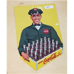 EMBOSSED COCA COLA TIN SIGN