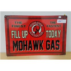 MOHAWK GAS METAL SIGN