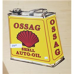 SHELL AUTO-OIL METAL SIGN
