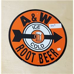 A&W ROOTBEER TIN SIGN