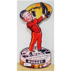 NUGGET SHOE POLISH METAL SIGN