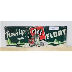FRESH UP WITH 7UP FLOAT TIN SIGN