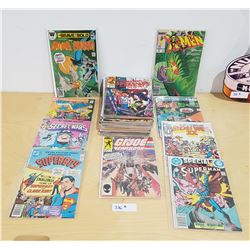 BOX W/APPROX 35 VINTAGE COLLECTIBLE COMICS