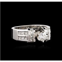 14KT White Gold 1.45 ctw Diamond Ring