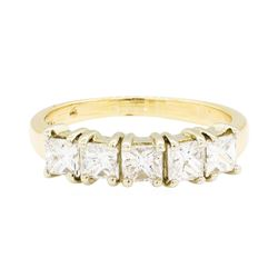 1.05 ctw Diamond Ring - 14KT White And Yellow Gold