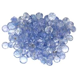 13.21 ctw Round Mixed Tanzanite Parcel