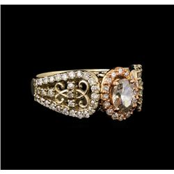 14KT Two-Tone Gold 1.12 ctw Diamond Ring