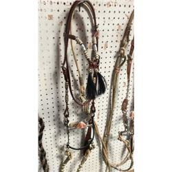 Fancy Gallery Bridle with Rawhide and Silver