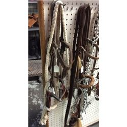 Snaffle Bit Bridle with Slobber Straps and C