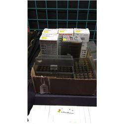 Lot of 22, 250, Ammo and Brass some Full