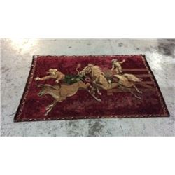 71 inches by 47 inches Western Tapestry