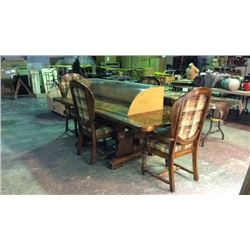 Rustic Cabin Table and 4 Chairs