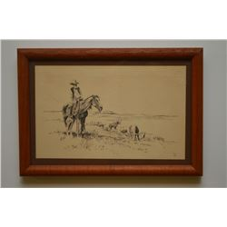 Western Pen and Ink by Gollings