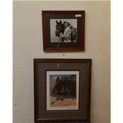 HAND SIGNED PRINT AND PHOTOGRAPH BY OLAF WIEGHORST