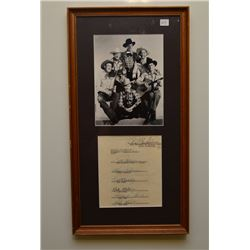 SONS OF THE PIONEERS PHOTO WITH ALL MEMBERS SIGNATURE