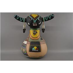 Hopi painted gourd by Poolheco