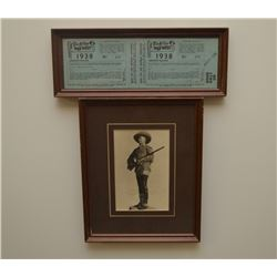 Tim McCoy photo and 1938 Wild West Show ticket
