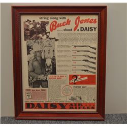 Buck Jones advertisements