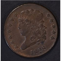 1828 HALF CENT ( 12 STARS ) AU SOME RED