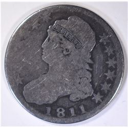 1811 BUST HALF DOLLAR, GOOD