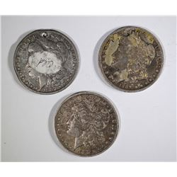 2-1887-O & 1-1889-O CIRC MORGAN DOLLARS  1-has hol