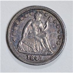 1845 SEATED LIBERTY HALF DIME AU/BU