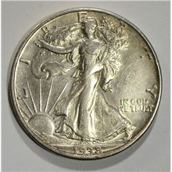 1938-D WALKING LIBERTY HALF AU/BU