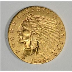 1926 $2.5 GOLD INDIAN CH BU