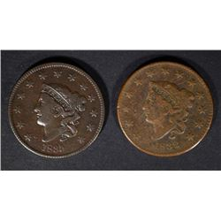 1832 F/VF & 1835 F/VF U.S. LARGE CENTS