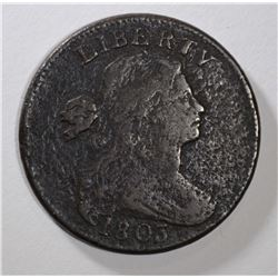 1803 DRAPED BUST LARGE CENT VG/F