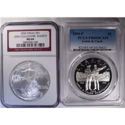 2-GRADED COINS: