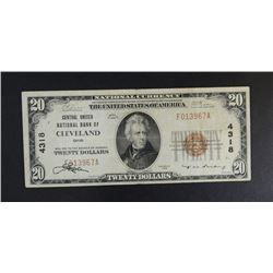 1929 $20 TY1 NATIONAL CURRENCY CH.VF