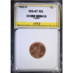 1962-D LINCOLN CENT LVCS SUPERB GEM