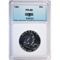 1961 FRANKLIN HALF DOLLAR EMGC SUPERB
