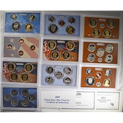 2009, 10 & 11 U.S. PROOF SETS IN ORIGINAL PACKAGIN