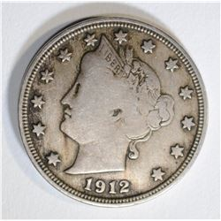 1912-S LIBERTY V NICKEL  FINE