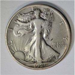 1921-D WALKING LIBERTY HALF DOLLAR  VF