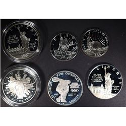 6 Proof Commemorative Coins: