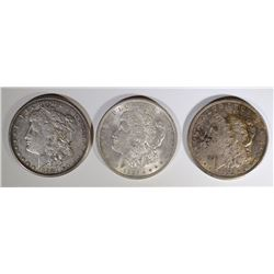 1921 P, D & S MORGAN DOLLARS