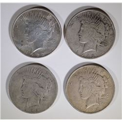 2-1922-D & 2-1922 PEACE SILVER DOLLARS