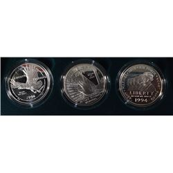 1994 U.S. Veterans 3-Piece Proof Coin Set