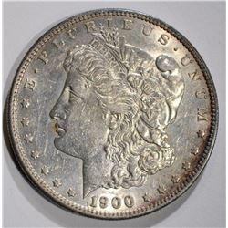 1900-S MORGAN DOLLAR, AU+ SEMI-KEY