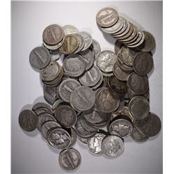 $10 FACE VALUE 90% SILVER DIMES