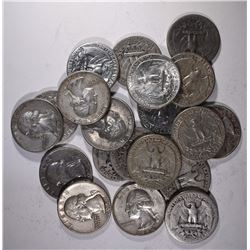 $5 FACE VALUE 90% SILVER QUARTERS